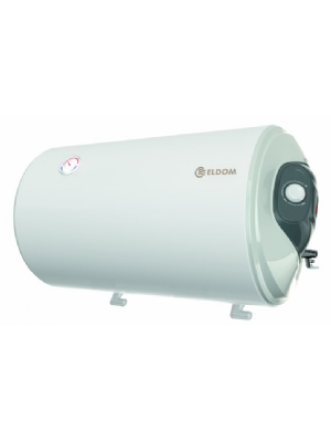 120 liter boiler voor horizontale wandmontage. Wateraansluitingen aan de rechter zijde.